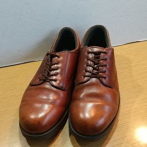 Dear Stags Brown Leather Oxford Shoes, Sz 11 M